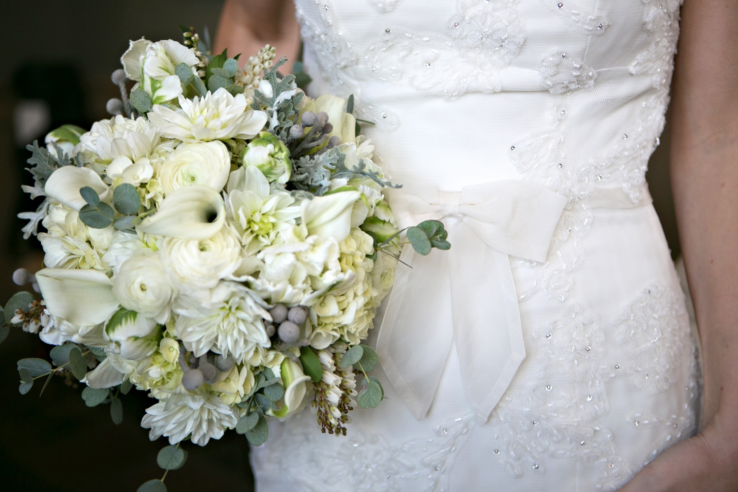 Wedding Bouquet Calla Lily Ivory White And Flowers Minneapolis Rush Creek Golf Course