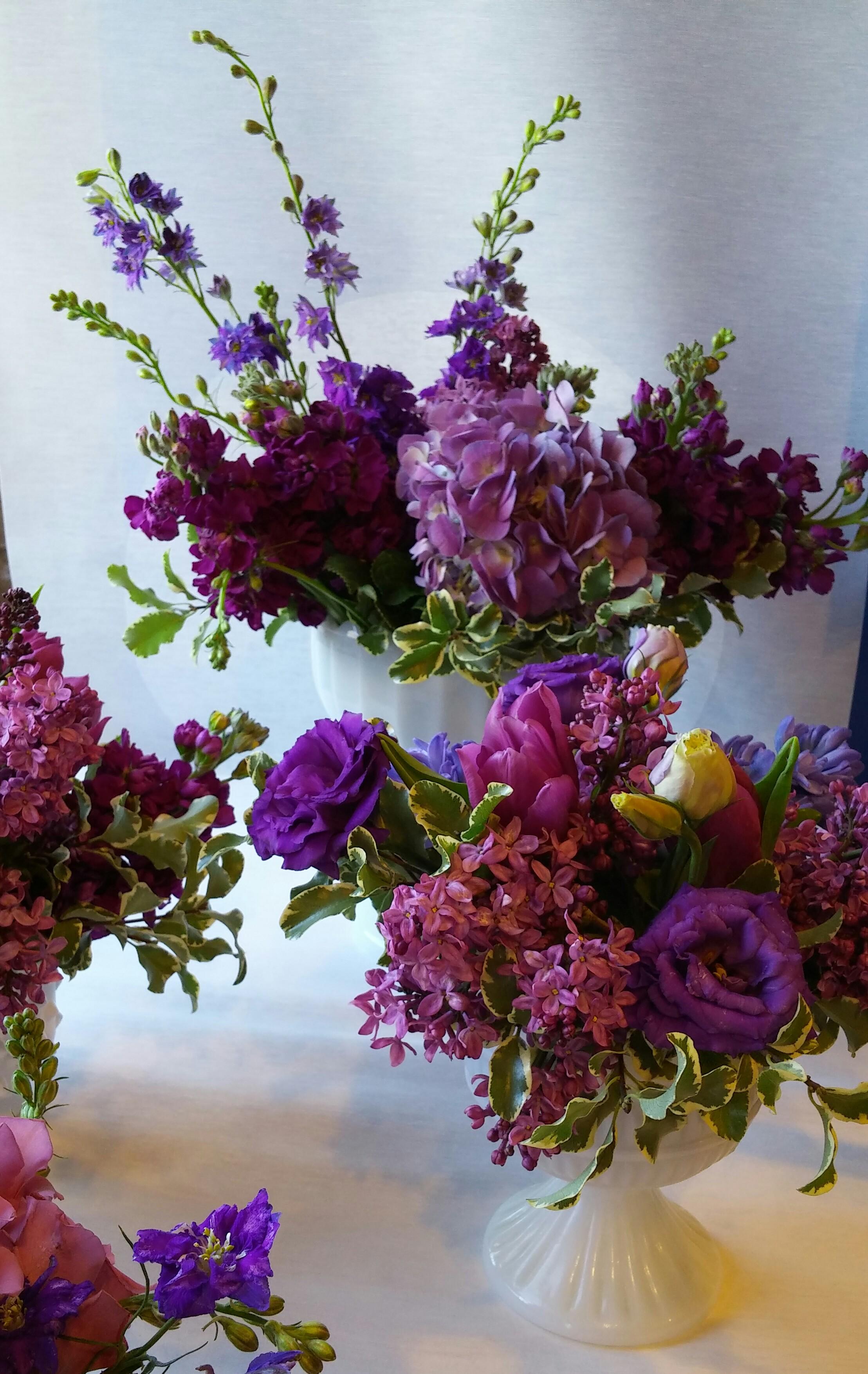 Purple Flower Purple Lilac Milky Glass Minneapolis baby shower