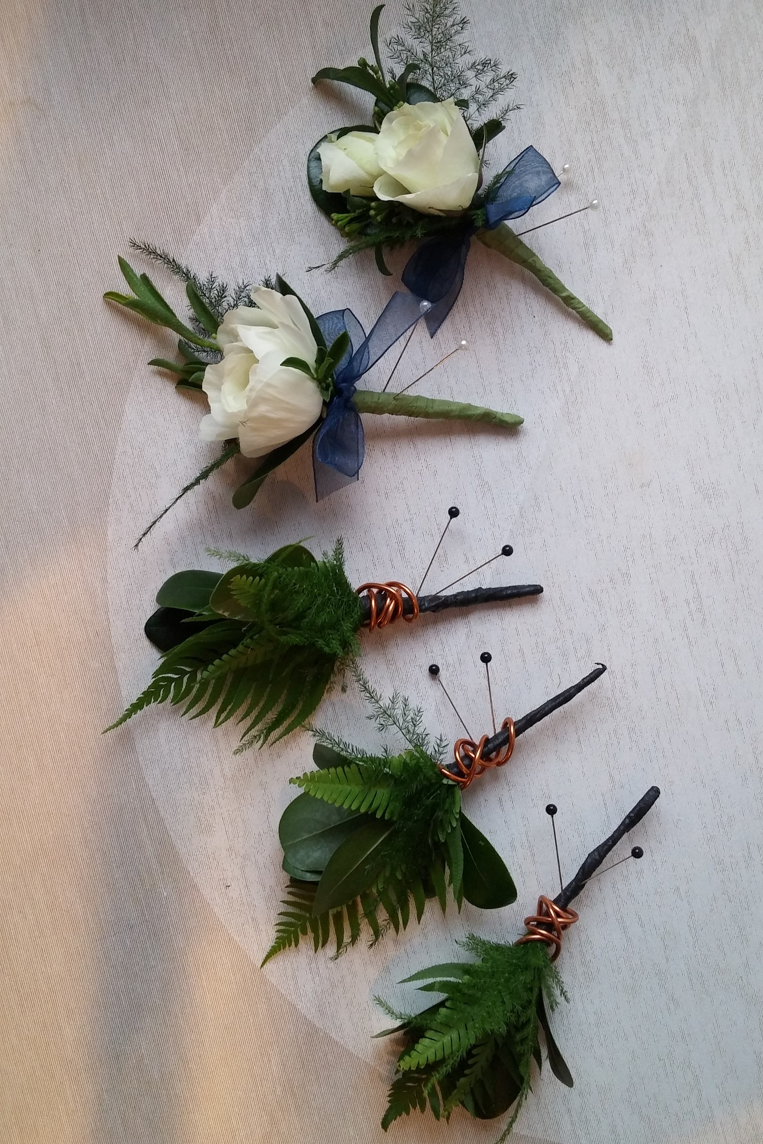 Minneapolis Twin Cities Cool Tones Jewel Tone Boutonniere