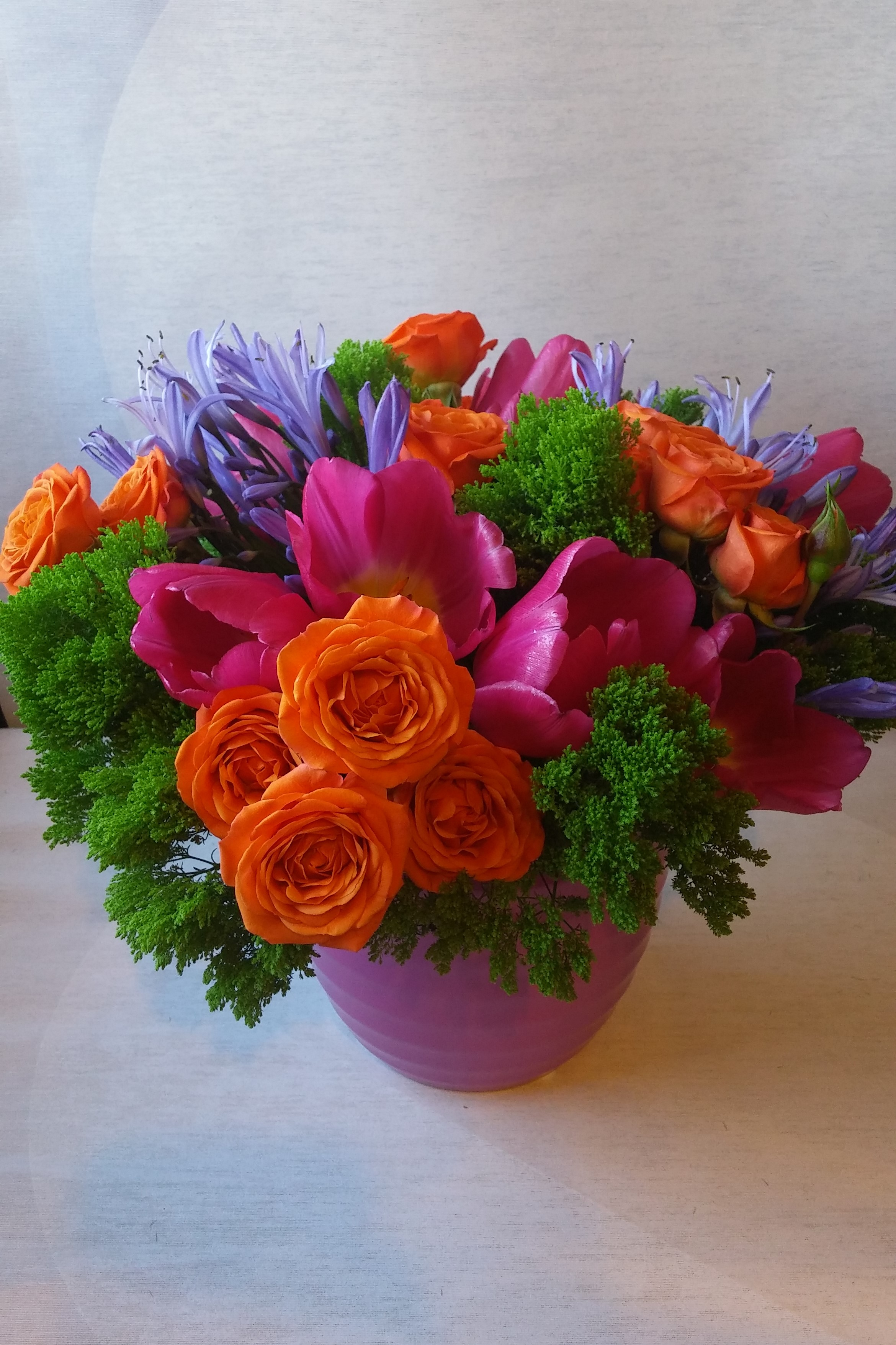 Minneapolis Tulips Purple Flowers Flower Arrangements Green