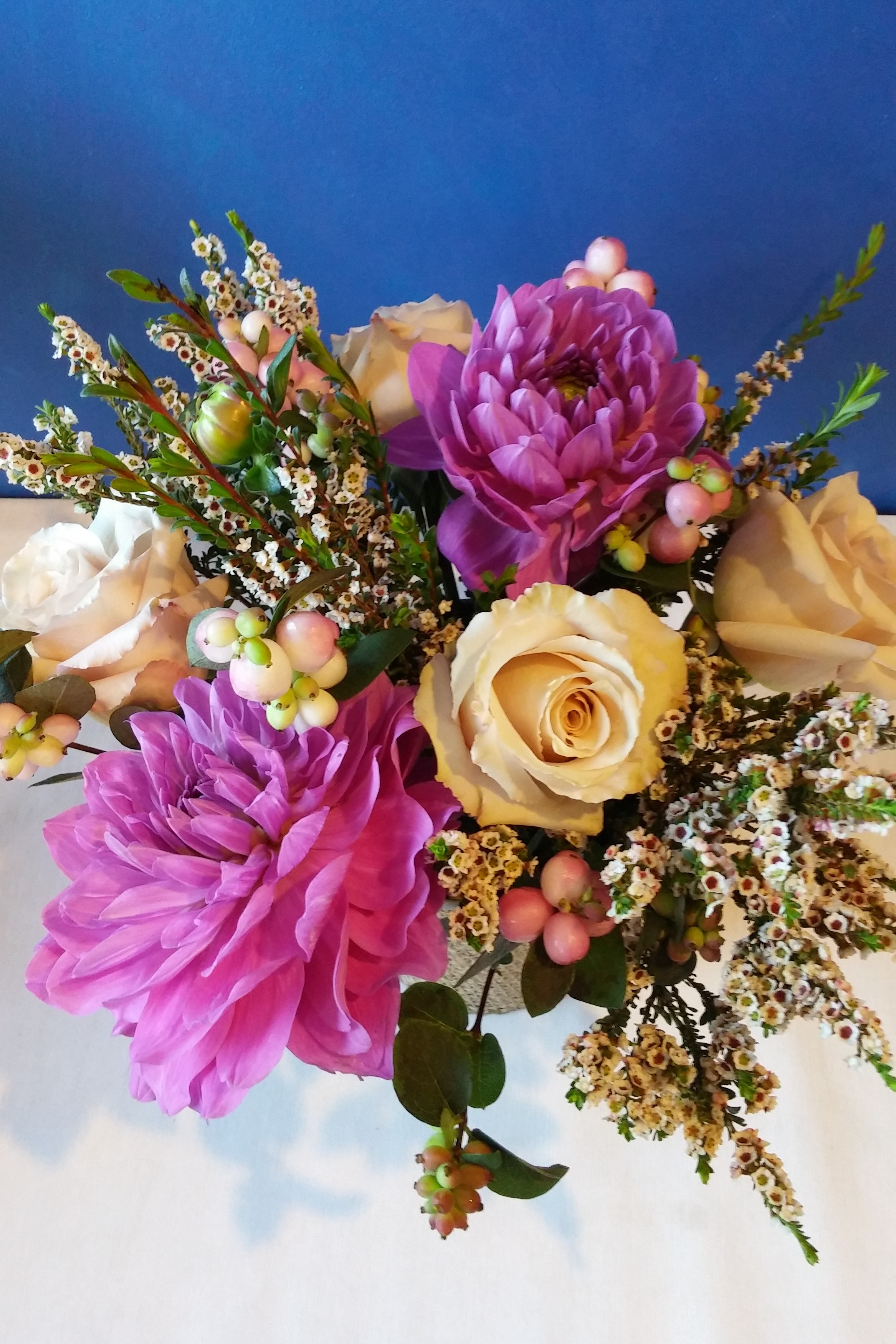 minneapolis, wedding bouquets, wax flower, pink wedding, gold rose ...