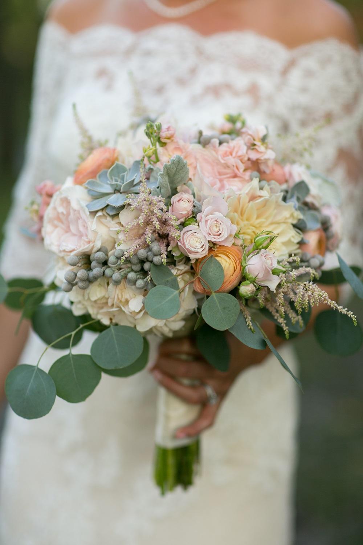Minneapolis Rose Wedding Florist Succulent Bouquet Dahlia