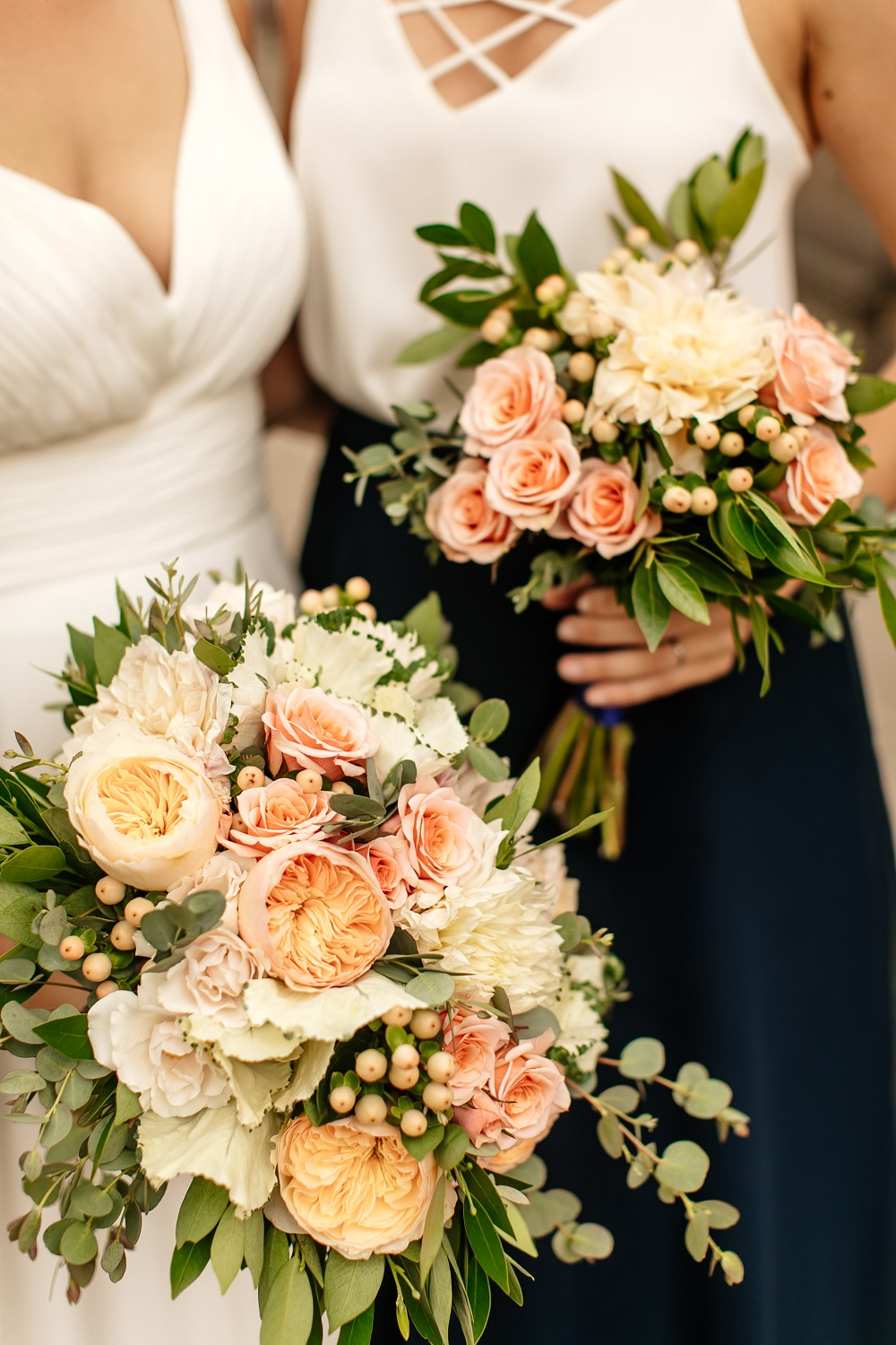 Minneapolis Flowers Wedding Dahlia Blush Eucalyptus Wedding