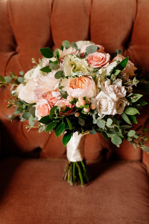 Minneapolis Flowers Rose Florist Wedding Blush Eucalyptus