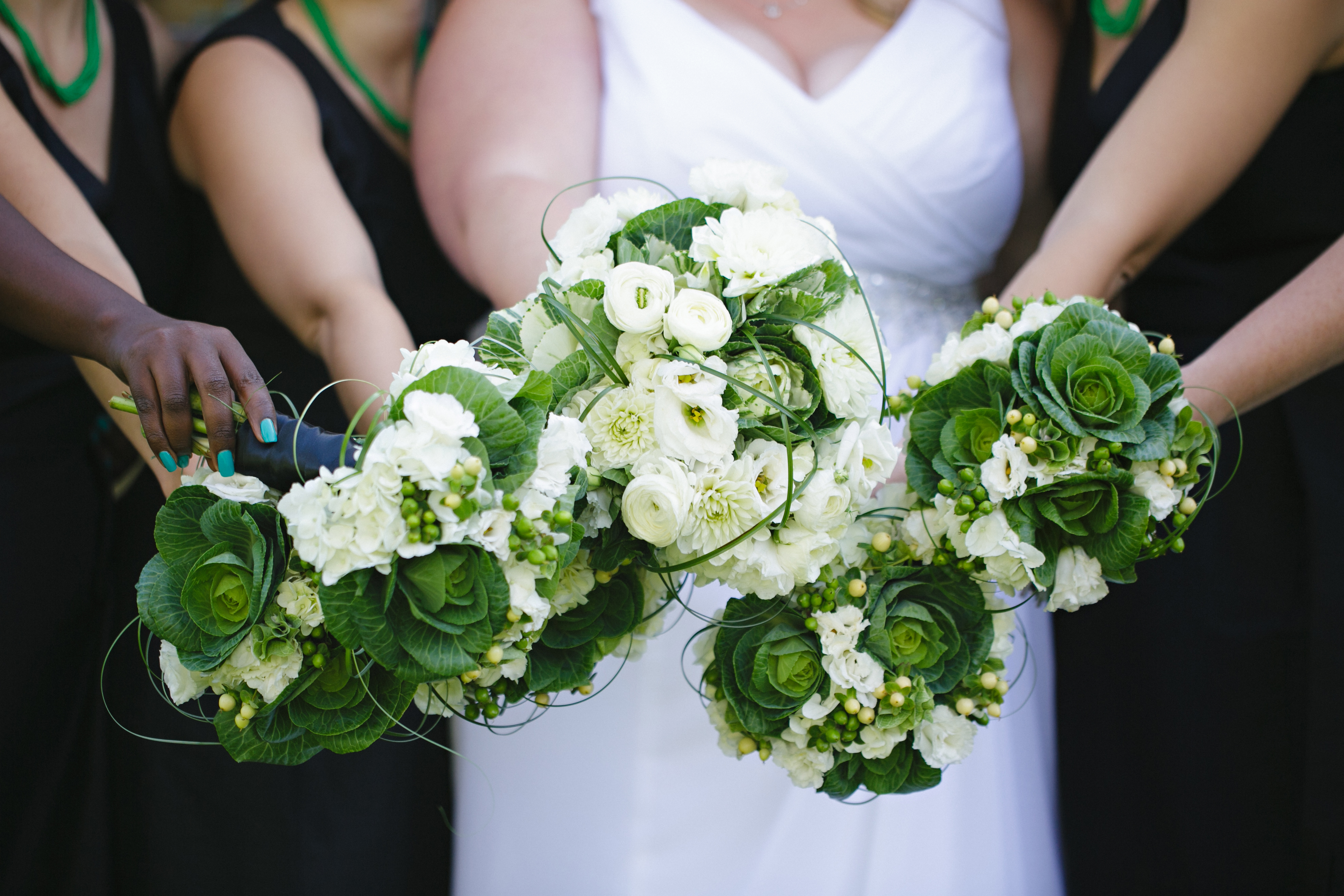 Green Wedding Green And White Green And White Flowers Kale