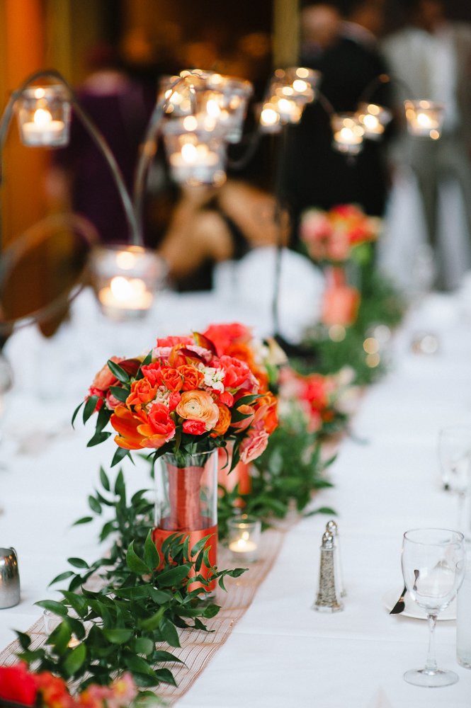 Wedding Centerpiece Ideas Coral Colored Flowers Wedding