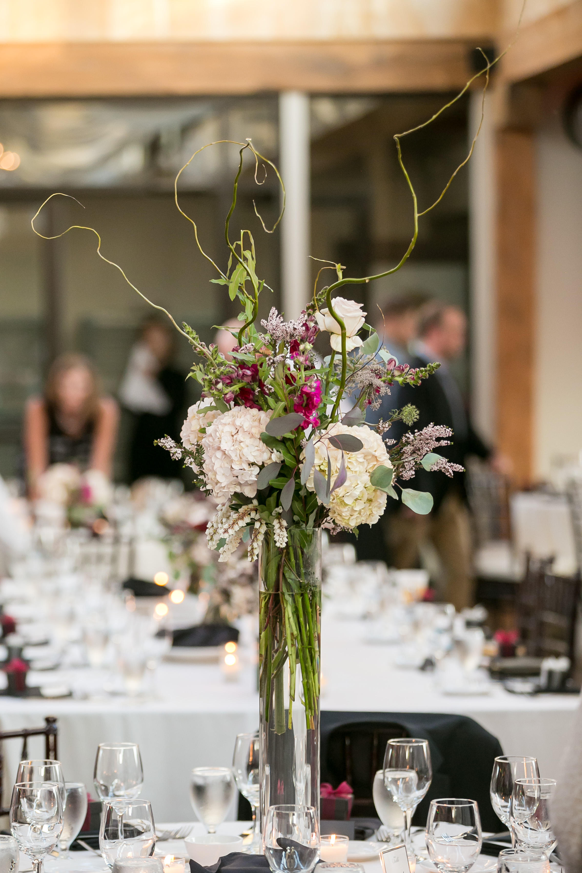 Tall And Curly Eucalyptus Wedding Tall Fall Centerpieces