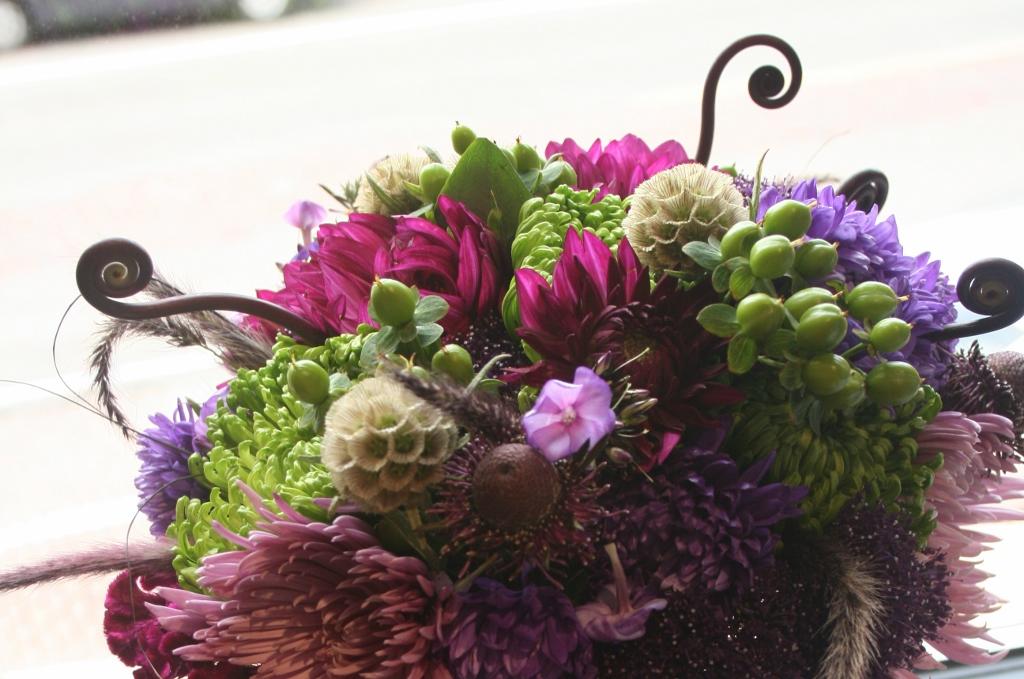 Purple Flowers Purple Wedding Purple Wedding Bouquet Dahlia Bouquet Minneapolis Purple Flower Bridal Bouquet Fiddle Head Fern Purple Dahlia Purple And Green Bouquet Wedding Bouquet Luna Vinca