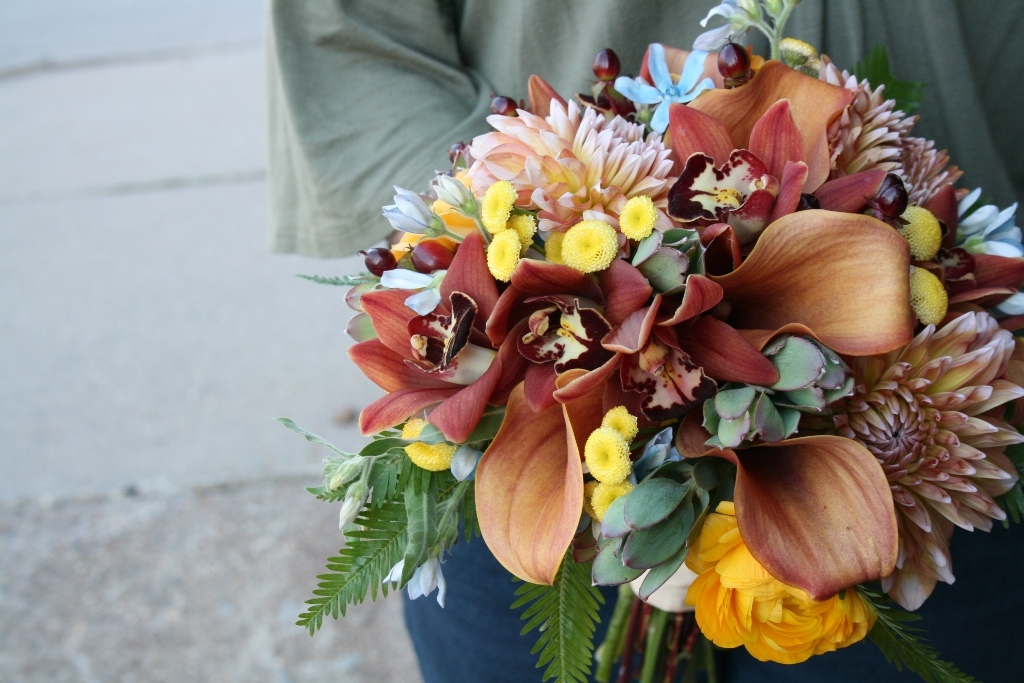Custom Wedding Bouquet Orange Bridal Bouquets Burnt Minneapolis Day Block Building