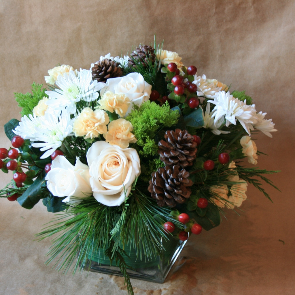 Winter Berries Winter Flower Dianthus Flower Arrangements White