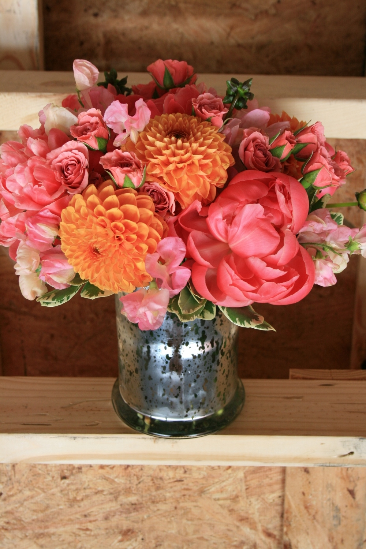 Sweet Pea Sweet Pea Flower Coral Charm Peony Orange Dahlia