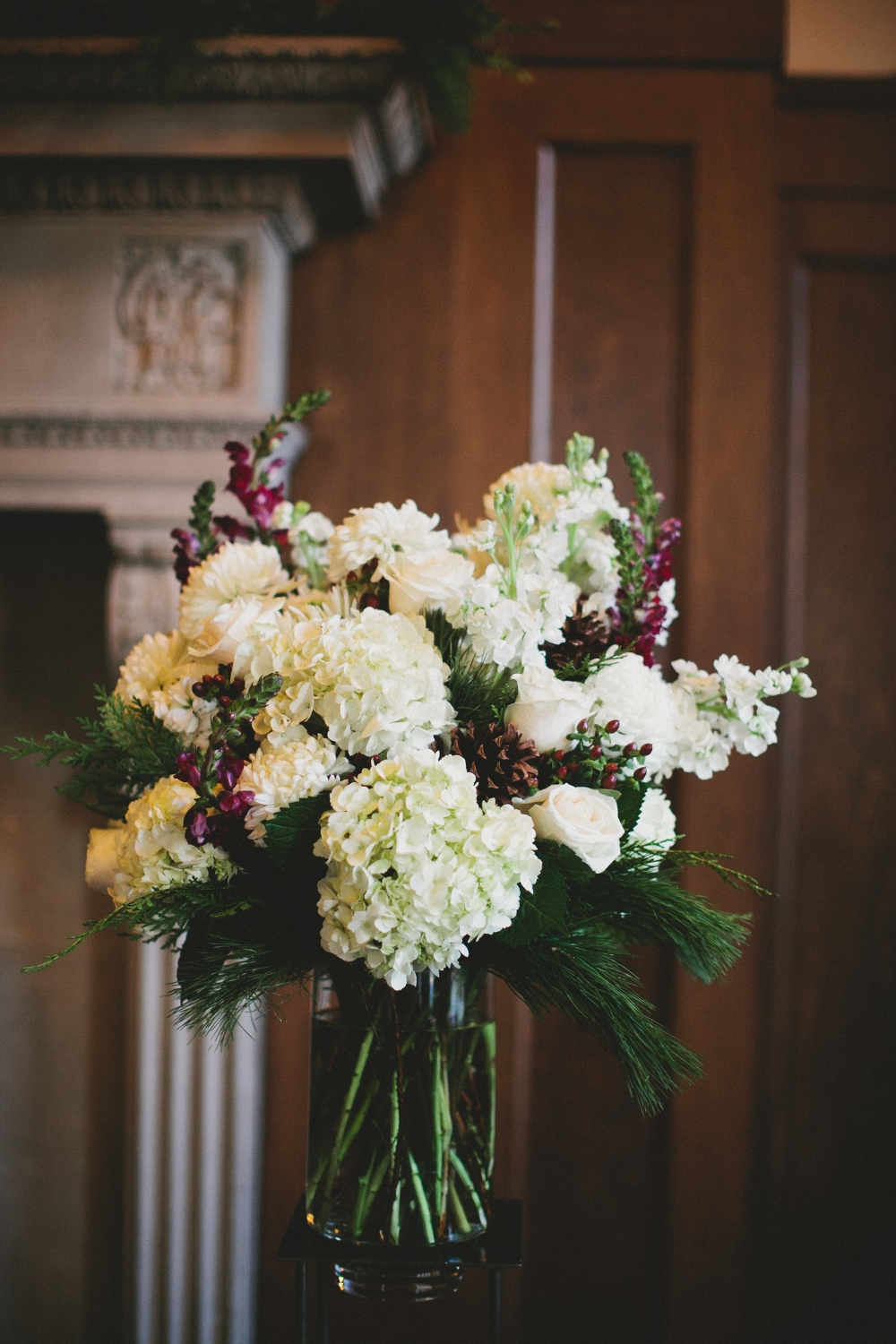 Large Flower Arrangement Large Wedding Flower Arrangement Burgundy And White Flowers Minneapolis Altar Arrangement Altar Piece Burgundy And White Large Arrangement Winter Wedding Classy Winter Wedding Elegant Winter Wedding Luna Vinca