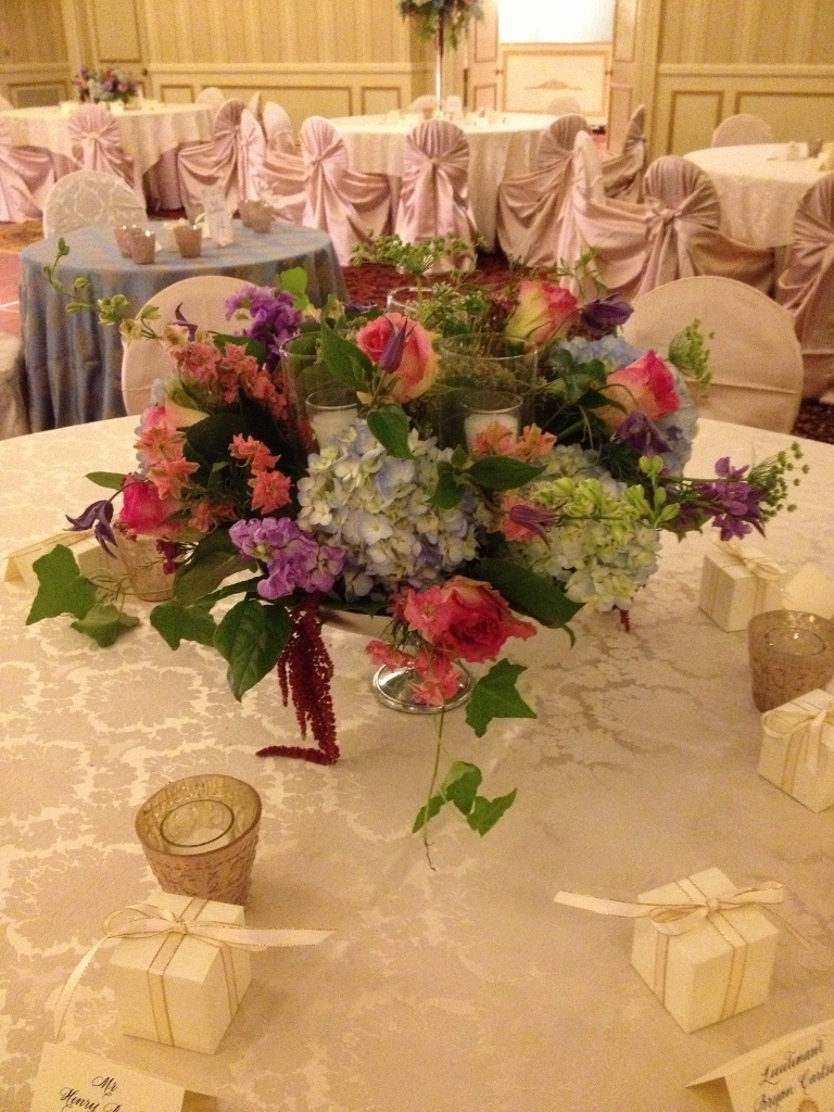 Draping flowers wildflower centerpieces table flower