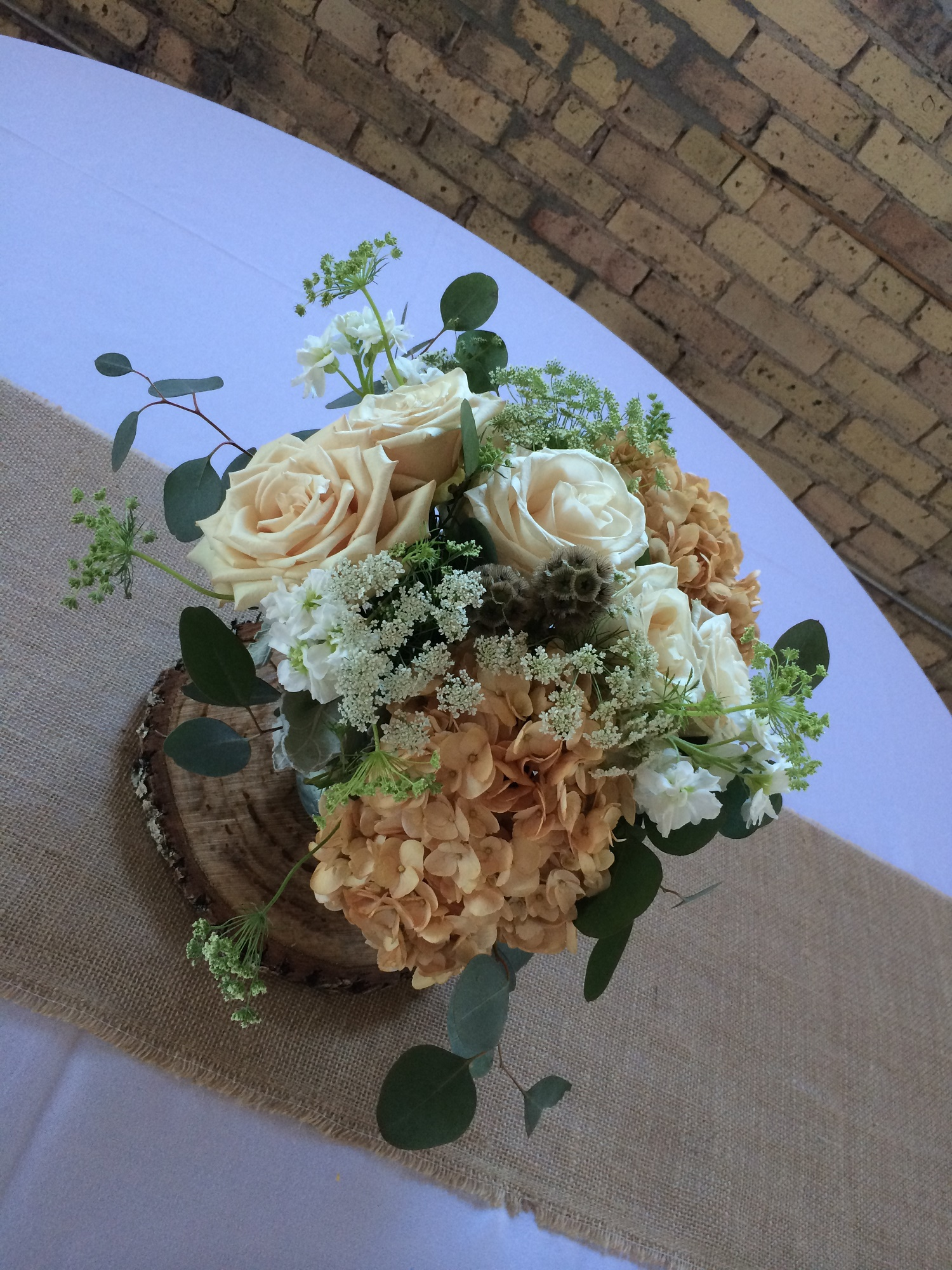 Beige Flowers Hydrangea Wedding Centerpieces Hydrangea Wedding