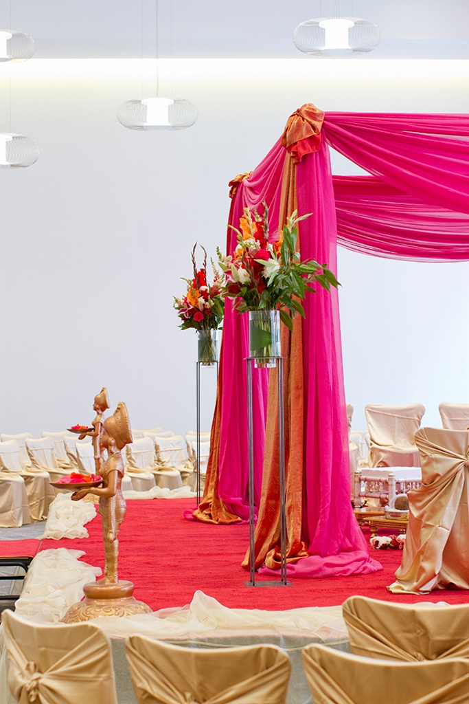 Indian Wedding Decorations Indian Wedding Flowers Mandap Decoration Ideas Minneapolis Indian Wedding Mandap Draping Hot Pink And Orange