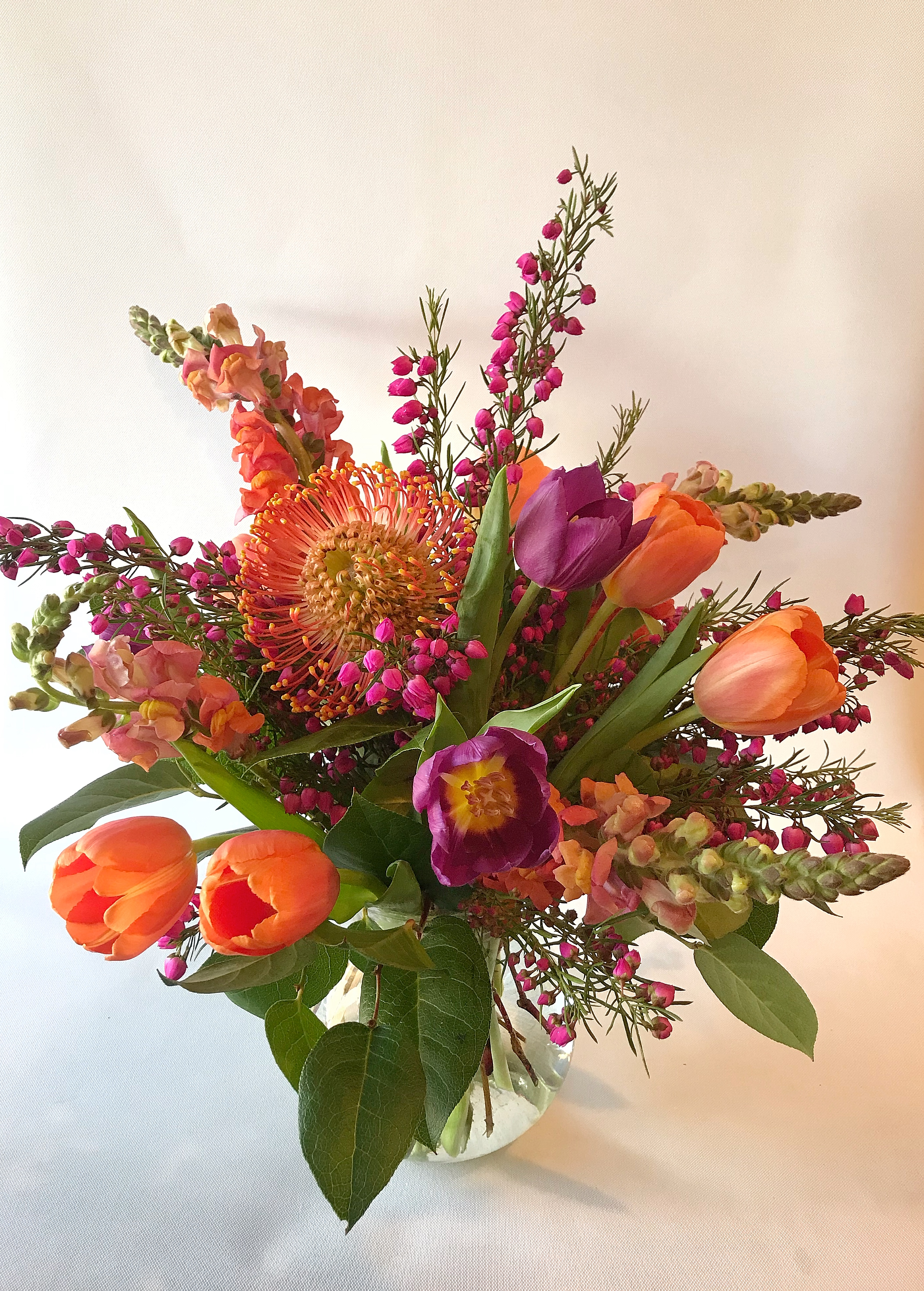 Marvelous Purple Magenta Orange Pink Green Protea Tulips Snapdragons Download Free Architecture Designs Estepponolmadebymaigaardcom