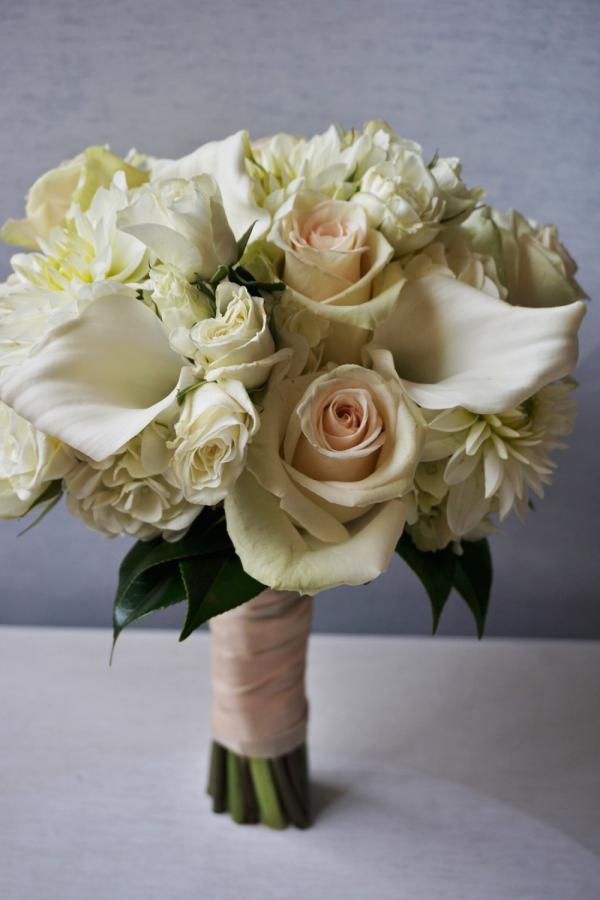 Wedding Bouquet Calla Lily White Ivory Rose Minneapolis Bridal