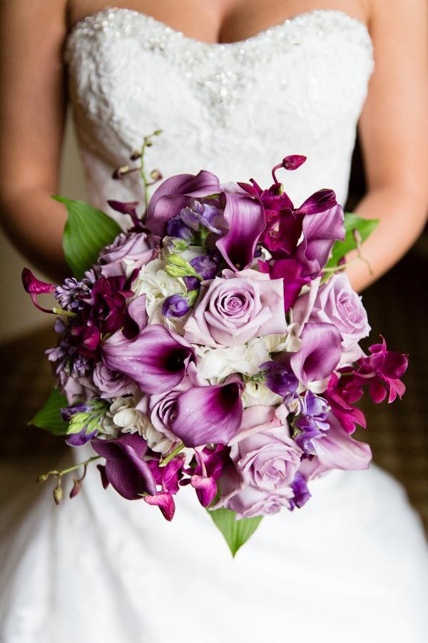 Purple Lily Bridal Bouquet : Wedding flowers purple bouquet calla lily
